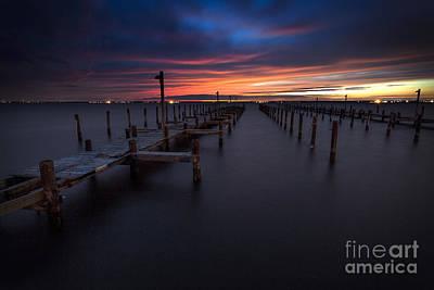 Barnegat Bay A Final Sunset Poster by Marco Crupi