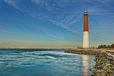 Poster featuring the photograph Barnegat Lighthouse - Lbi by Lee Dos Santos