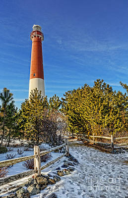 Barnegat Lighthouse In Winter Poster by Lee Dos Santos
