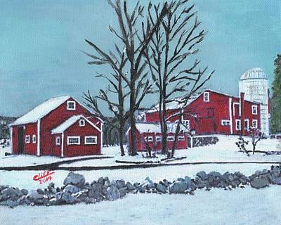 Barns At The Warren Conference Center Poster by Cliff Wilson