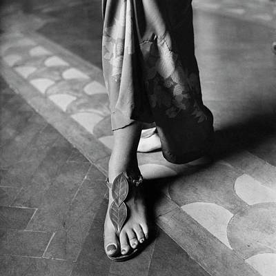 Baroness Reutern's Feet Modeling Sandals Poster by Mannes Marya