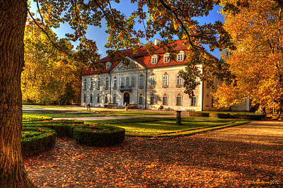 Baroque Palace In Nieborow In Poland During Golden Autumn Poster