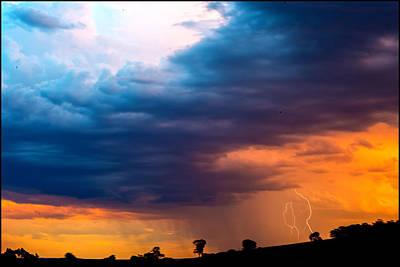 Barossa Valley Lightning IIi Poster by Casey Grant