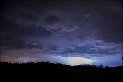 Barossa Valley Lightning I Poster by Casey Grant