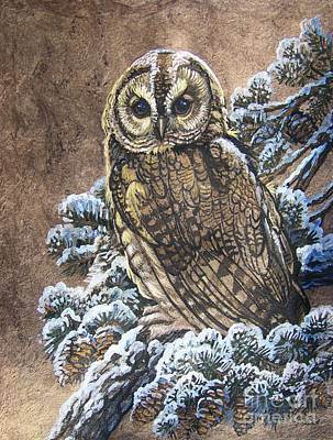 Barred Owl First Snow Poster