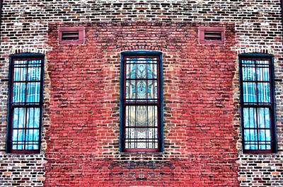 Barred Windows On Brick Poster by Dan Sproul