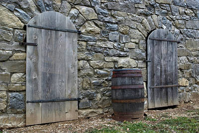 Poster featuring the photograph Barrel And Barn Doors by Gene Walls