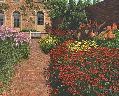Barrington Court Gardens Somerset Poster by Richard Harpum