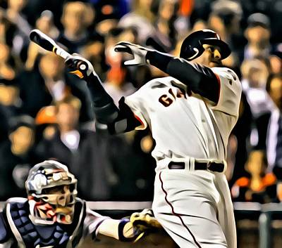 Barry Bonds Painting Poster by Florian Rodarte