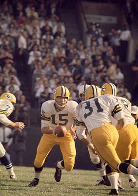 Bart Starr Hands Off To Jim Taylor Poster