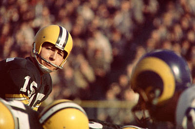 Bart Starr Looks  Poster by Retro Images Archive