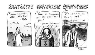 Bartlett's Unfamiliar Quotations Poster