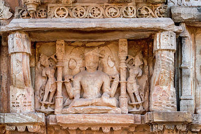 Bas Relief Chittaurgarh Citadel 6th Poster by Tom Norring