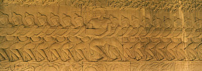 Bas Relief In A Temple, Angkor Wat Poster by Panoramic Images