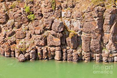 Basalt Rock Columns Of Miles Canyon Yukon Canada Poster by Stephan Pietzko