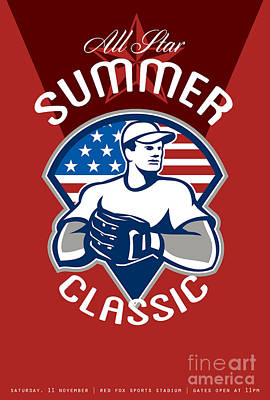 Baseball All Star Summer Classic Poster Poster by Aloysius Patrimonio