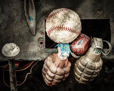 Baseball And Hand Grenades Poster