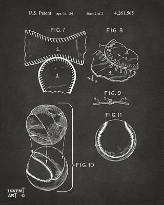 Baseball Construction Patent 2 - Gray Poster