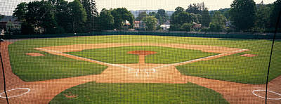Baseball Diamond Looked Poster by Panoramic Images