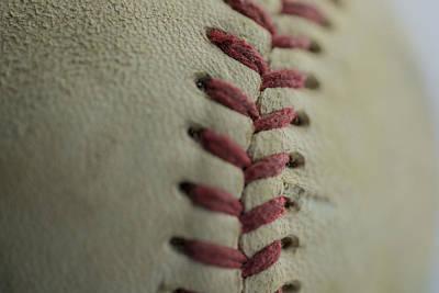 Baseball Macro Poster