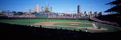 Baseball Match In Progress, Wrigley Poster by Panoramic Images