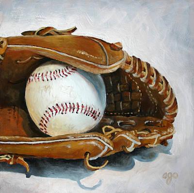 Baseball Mitt Poster by Abra Johnson