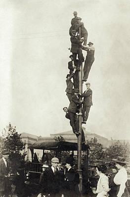Baseball Spectators, 1909 Poster