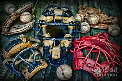 Baseball Vintage Gear Poster by Paul Ward