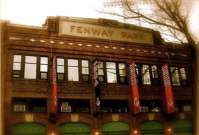 Baseballs Classic  V Bostons Fenway Park Poster