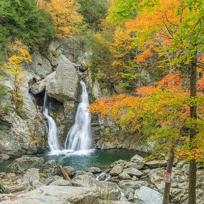 Bash Bish Falls Square Poster by Bill Wakeley