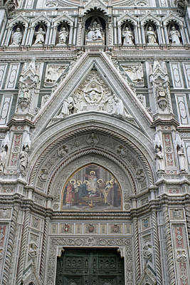 Basilica Di Santa Maria Del Fiore Florence Tuscany Italy Realistic Poster by Karen Stephenson