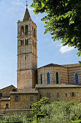 Basilica Of Santa Chiara - Assisi Italy Poster by Jon Berghoff