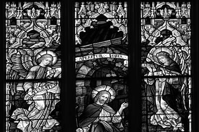 Basilica Stained Glass 1 Bw Poster