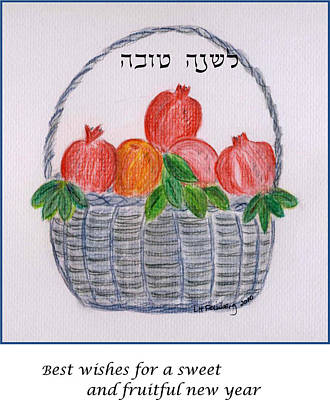 Poster featuring the painting Basket For The New Year by Linda Feinberg