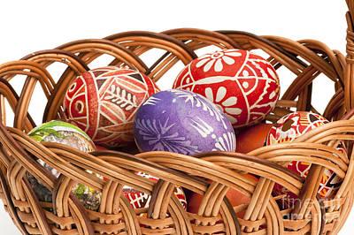 basket fulL of Ester Eggs Poster by Michal Boubin
