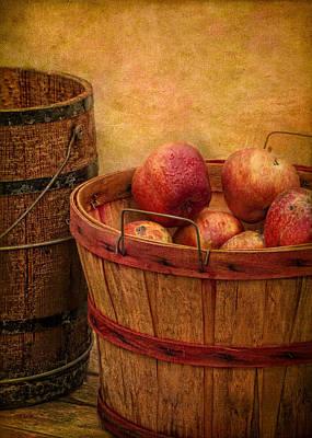 Basket Of Apples Poster by Robert Jensen