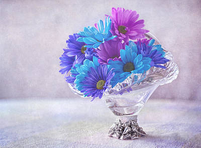 Basket Of Flowers Poster