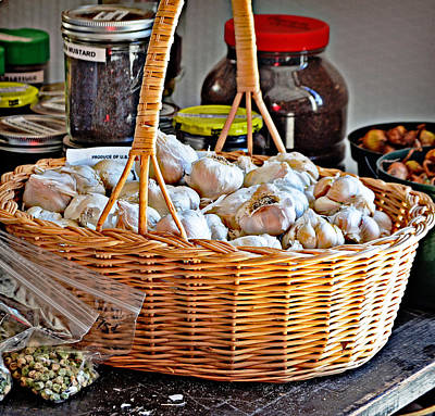 Basket Of Garlic Poster