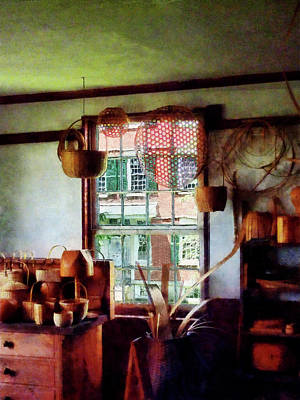 Poster featuring the photograph Basket Shop by Susan Savad