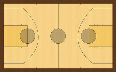 Basketball Court Poster by Modern Art Prints