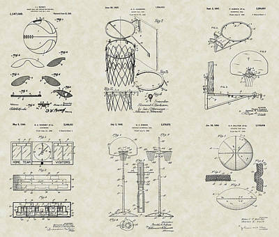 Basketball Equipment Patent Collection Poster