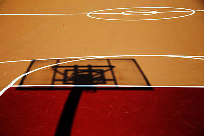 Basketball Shadows Poster by Karol Livote