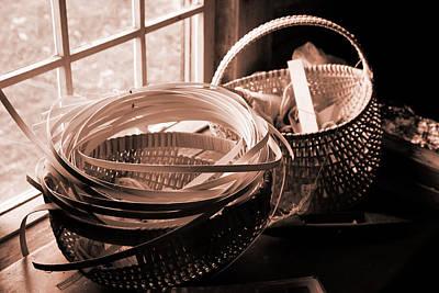 Baskets In Window Poster
