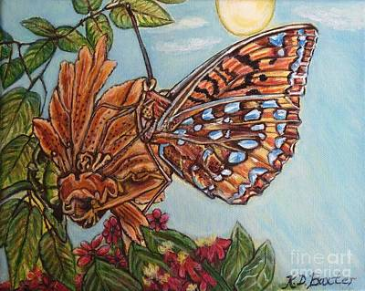 Poster featuring the painting Basking In The Warmth Of The Sun In A Tropical Paradise Painting by Kimberlee Baxter