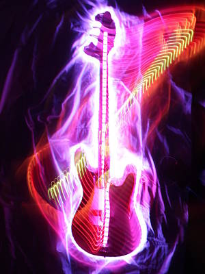 Bass Guitar 1 Poster by Patrick Daniel Trombly
