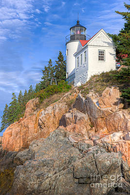 Bass Harbor Head Light I Poster by Clarence Holmes