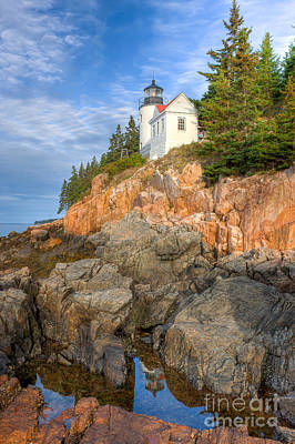 Bass Harbor Head Light IIi Poster by Clarence Holmes