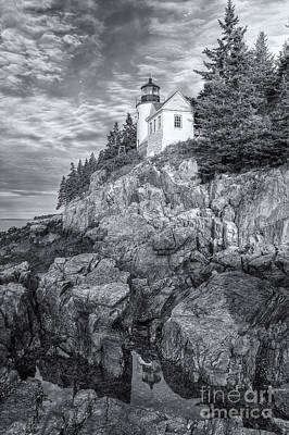 Bass Harbor Head Light Iv Poster by Clarence Holmes