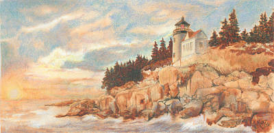 Bass Harbor Head Lighthouse Poster by Carol Kutz