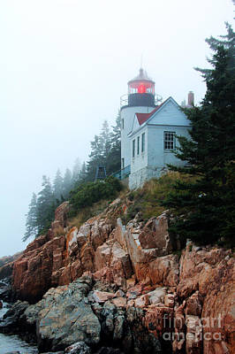 Poster featuring the photograph Bass Harbor Head Lighthouse by Jemmy Archer